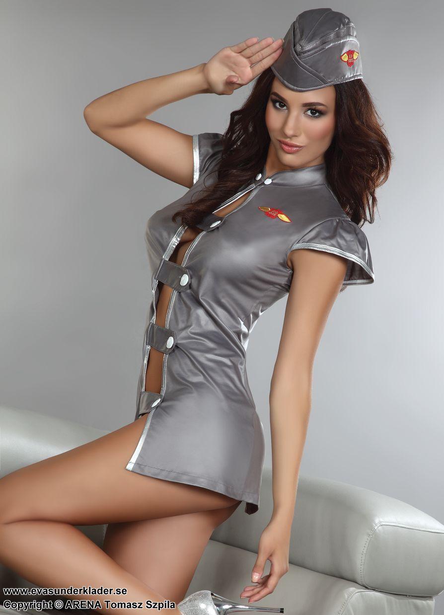 sexig flygvärdinna kostym